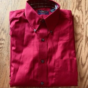 Club Room Shirts - NWOT meds red button up shirt